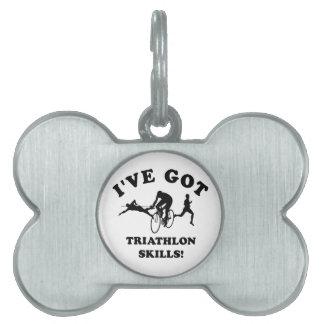 Diseños del Triathlon y artículos del regalo Placa Mascota