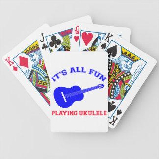 Diseños del Ukulele Baraja Cartas De Poker
