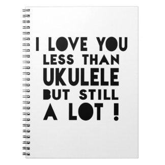Diseños del Ukulele Note Book