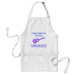 Diseños del Ukulele Delantal