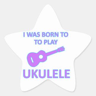Diseños del Ukulele Pegatina En Forma De Estrella