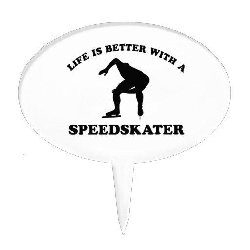 Diseños del vector del patinador de la velocidad decoración de tarta