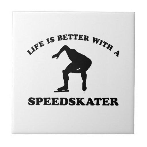 Diseños del vector del patinador de la velocidad tejas  ceramicas