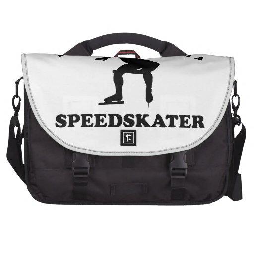 Diseños del vector del patinador de la velocidad bolsas de portatil