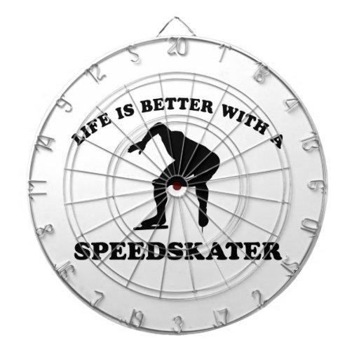 Diseños del vector del patinador de la velocidad tablero dardos