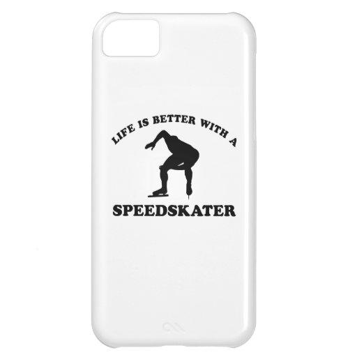 Diseños del vector del patinador de la velocidad