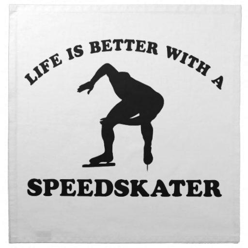 Diseños del vector del patinador de la velocidad servilleta