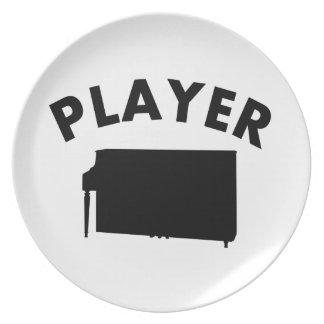 Diseños del vector del piano platos para fiestas