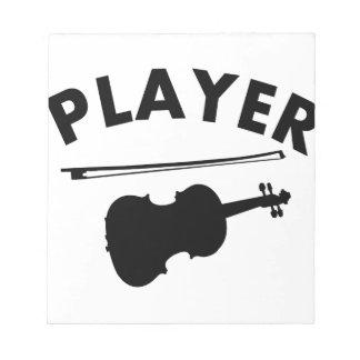 Diseños del vector del violín blocs de notas