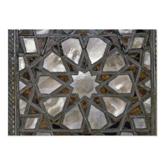 Diseños del vidrio invitación 12,7 x 17,8 cm