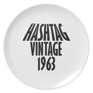 diseños del vintage 1963 plato para fiesta