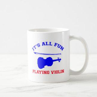 diseños del violín tazas de café