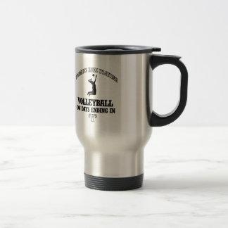 diseños del voleibol taza térmica