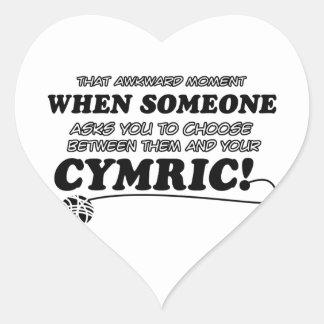 Diseños divertidos de CYMRIC Pegatina En Forma De Corazón