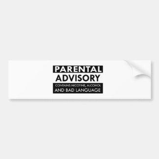 Diseños divertidos de la cólera etiqueta de parachoque