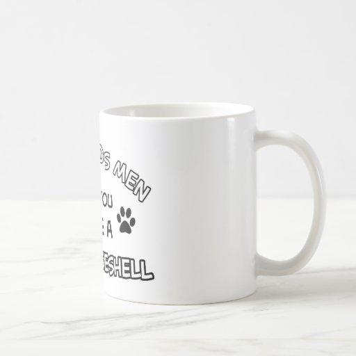 Diseños divertidos de la concha taza de café