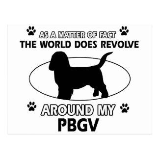 Diseños divertidos de PBGV Tarjetas Postales