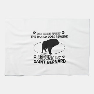 diseños divertidos de ST BERNARD Toallas De Mano