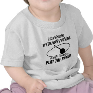 Diseños divertidos del banjo camiseta