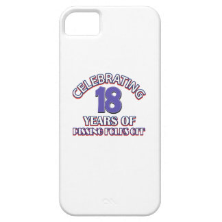 Diseños DIVERTIDOS del cumpleaños de 18 años iPhone 5 Case-Mate Funda