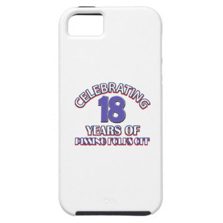 Diseños DIVERTIDOS del cumpleaños de 18 años iPhone 5 Protectores