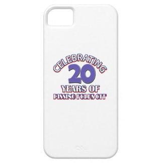 Diseños DIVERTIDOS del cumpleaños de 20 años iPhone 5 Case-Mate Protectores