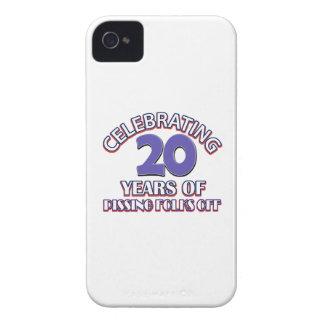 Diseños DIVERTIDOS del cumpleaños de 20 años iPhone 4 Case-Mate Fundas