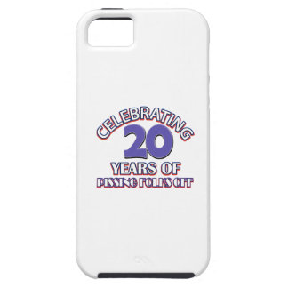 Diseños DIVERTIDOS del cumpleaños de 20 años iPhone 5 Protectores