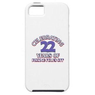 Diseños DIVERTIDOS del cumpleaños de 22 años iPhone 5 Case-Mate Coberturas