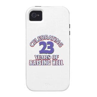 Diseños DIVERTIDOS del cumpleaños de 23 años iPhone 4 Carcasas