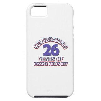 Diseños DIVERTIDOS del cumpleaños de 26 años iPhone 5 Protector