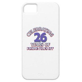 Diseños DIVERTIDOS del cumpleaños de 26 años iPhone 5 Cobertura