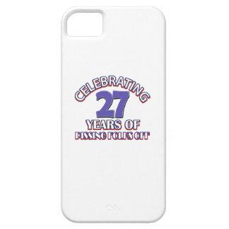 Diseños DIVERTIDOS del cumpleaños de 27 años iPhone 5 Case-Mate Cárcasa