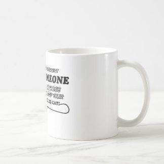 Diseños divertidos del gato de la lentejuela del c tazas de café
