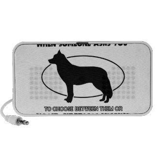 Diseños divertidos del husky siberiano iPod altavoz