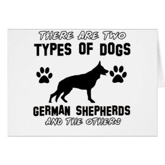 Diseños divertidos del pastor alemán tarjeta de felicitación