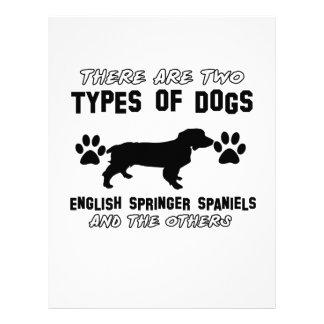 Diseños divertidos del perro de aguas de saltador plantilla de membrete
