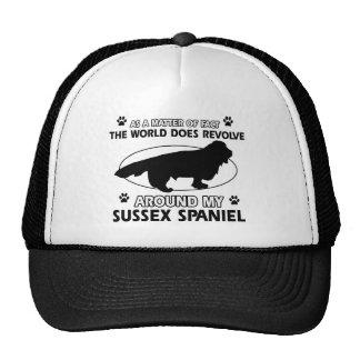 Diseños divertidos del perro de aguas de Sussex Gorros