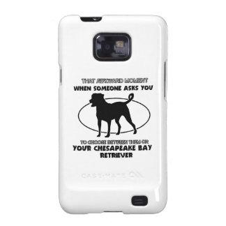 Diseños divertidos del perro perdiguero de bahía d galaxy s2 cobertura