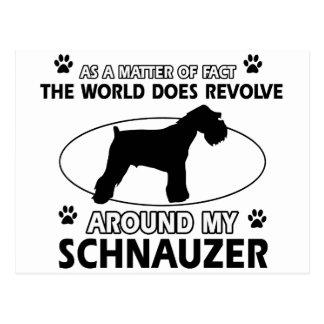 diseños divertidos del SCHNAUZER Postal