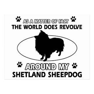 Diseños divertidos del shetlandsheepdog postales