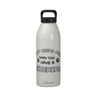 diseños divertidos del siberiano botellas de agua reutilizables