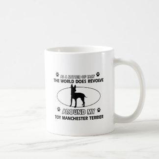 Diseños divertidos del terrier de Manchester del j Taza Básica Blanca