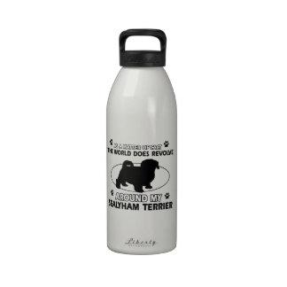 Diseños divertidos del terrier de sealyham botallas de agua