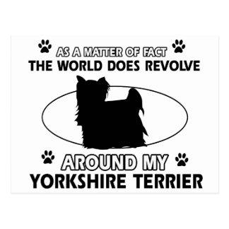 Diseños divertidos del terrier de Yorkshire Postal