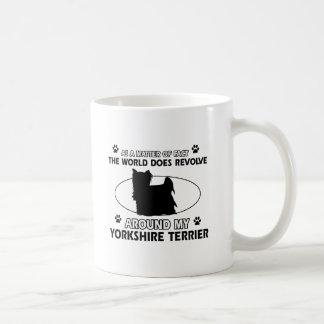Diseños divertidos del terrier de Yorkshire Taza