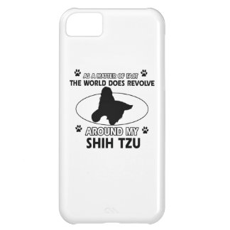 Diseños divertidos del tzu de shih funda para iPhone 5C