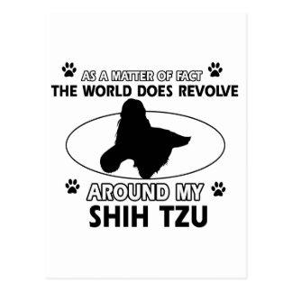 Diseños divertidos del tzu de shih tarjetas postales