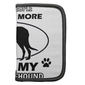 Diseños divertidos del wolfhound irlandés organizadores