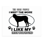 Diseños divertidos del wolfhound irlandés postal